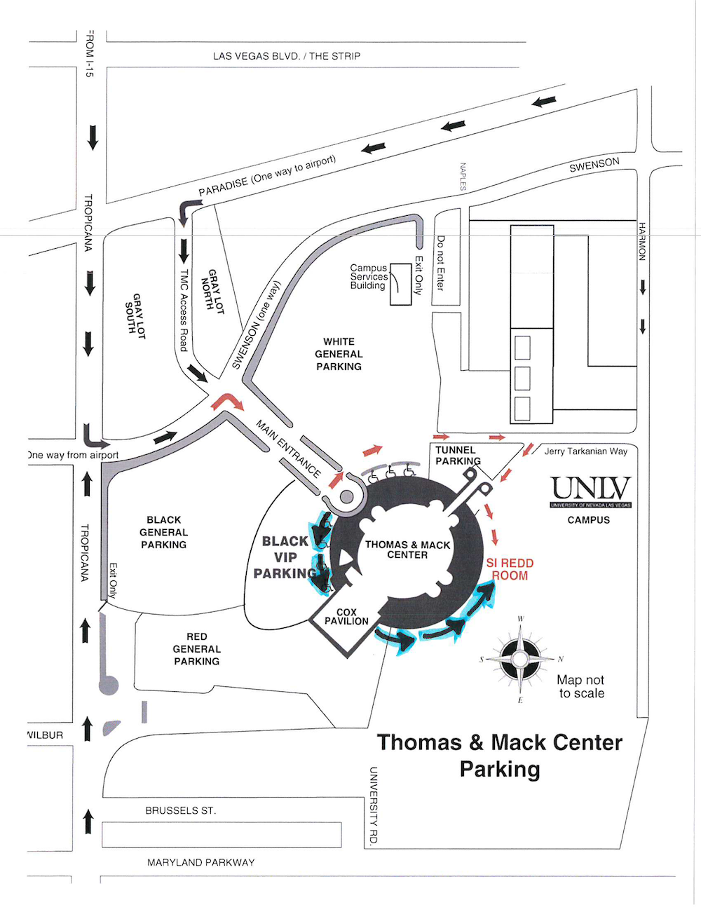 Map to Si Redd Room