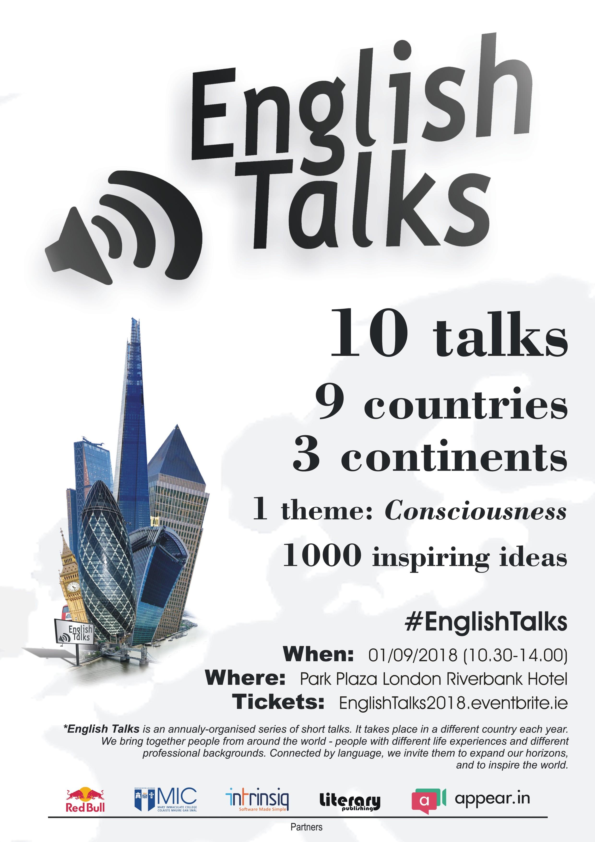 English Talks 2018 London