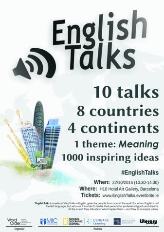 ENGLISH TALKS poster
