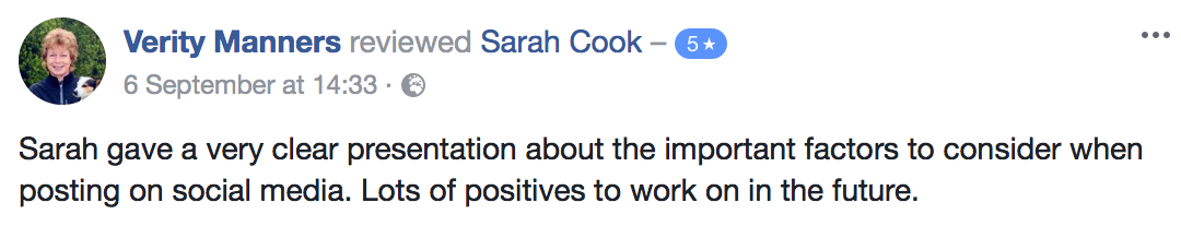 Sarah Cook review
