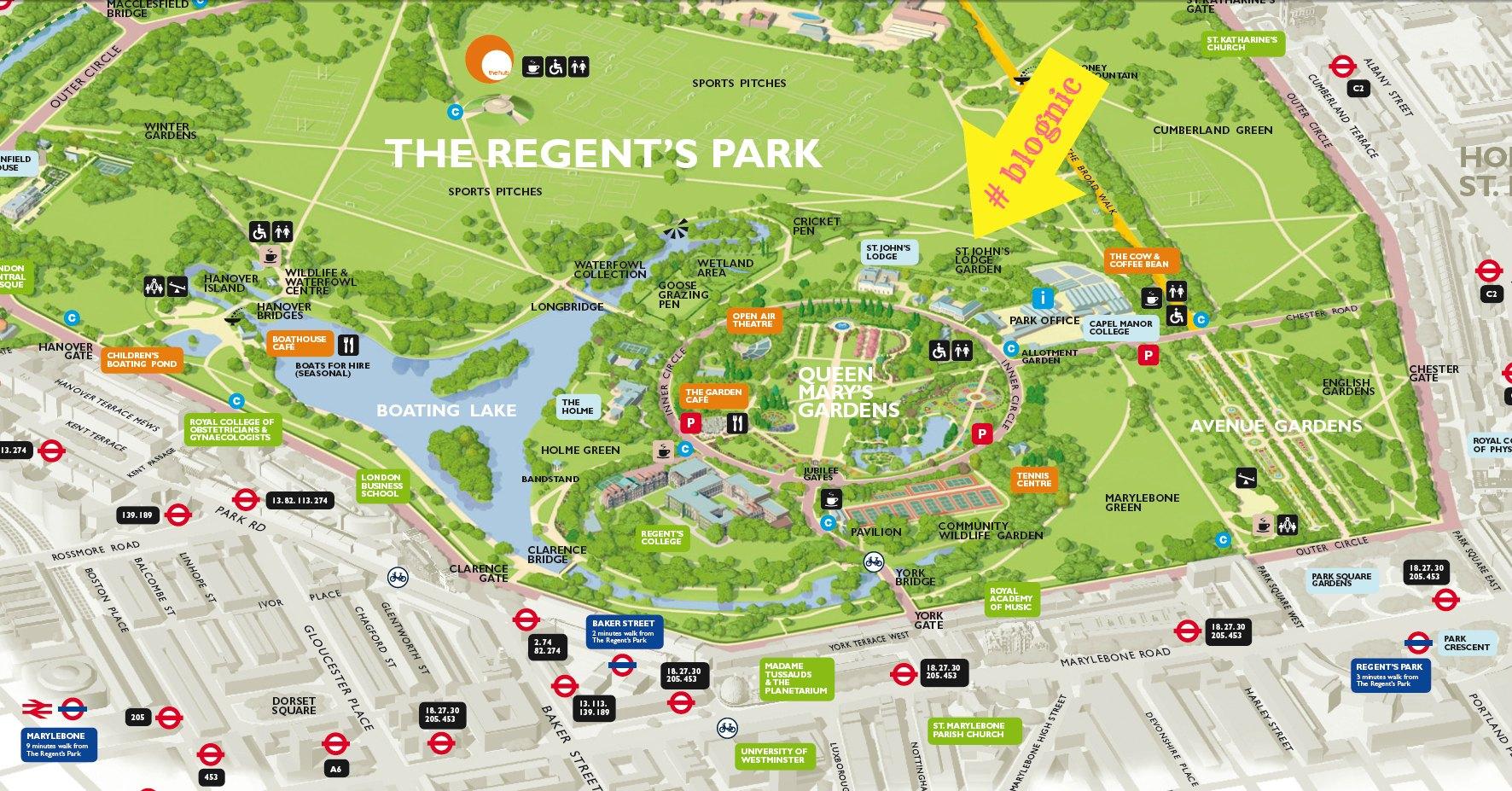Location for Blognic 2013 St Johns Lodge Gardens Regents Park