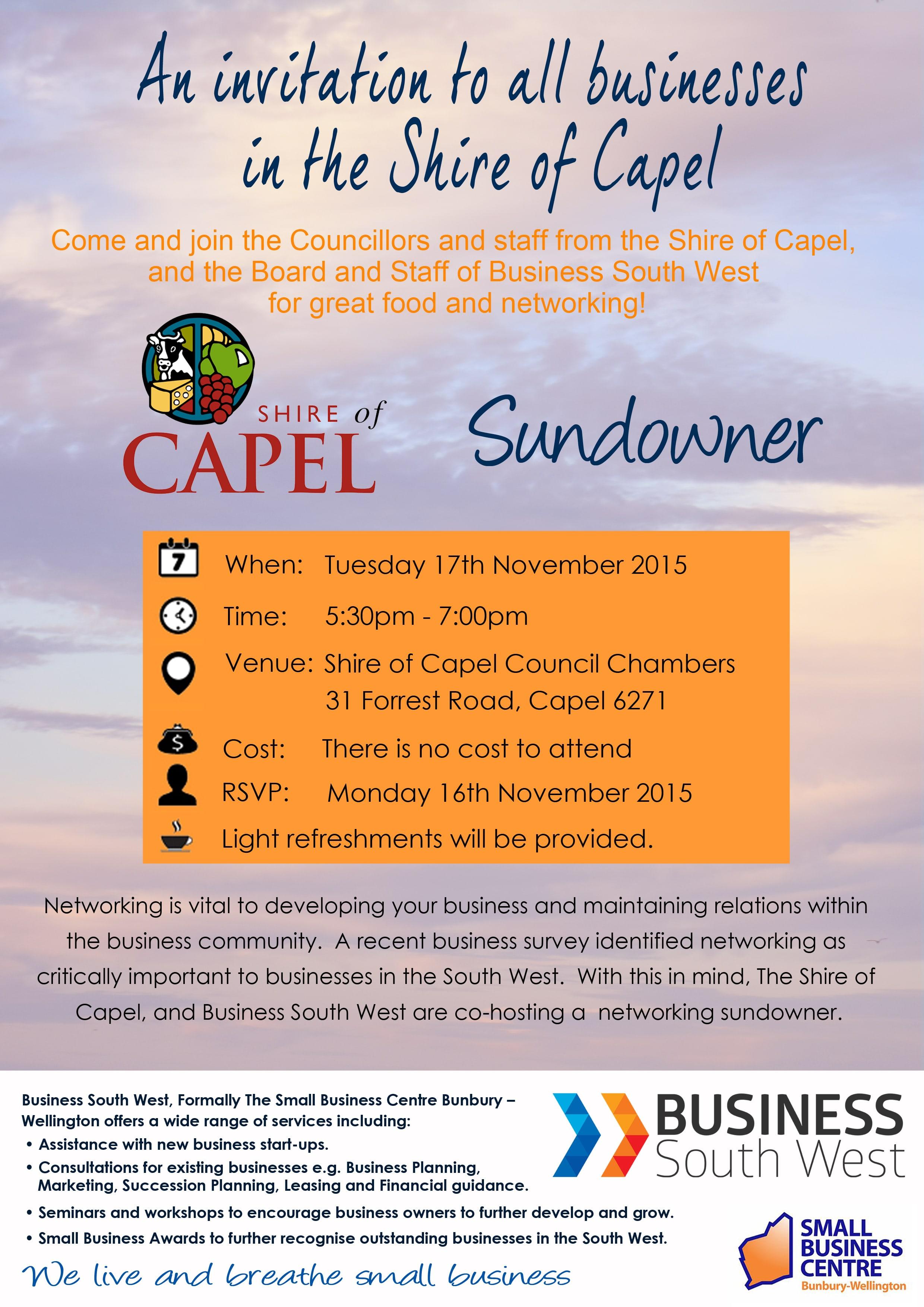 Shire of Capel Sundowner Flyer