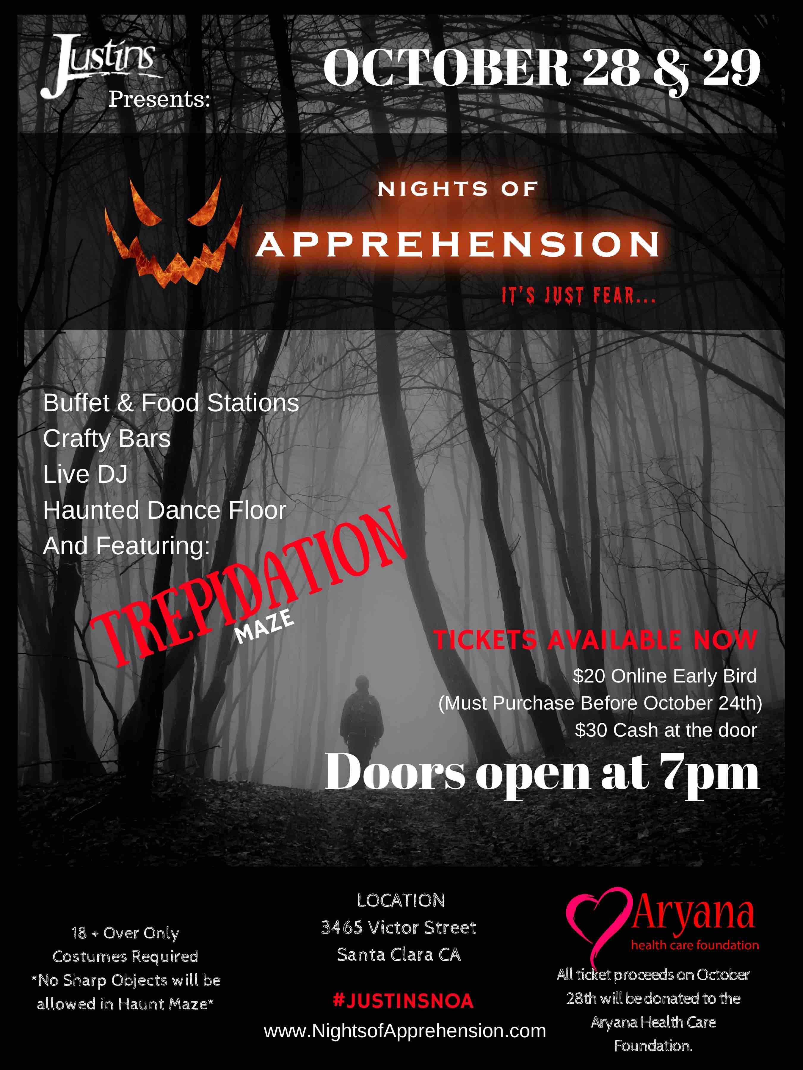 Nights Of Apprehension - Halloween Costume Party & Haunt Maze ...