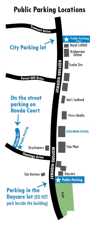 FEED NOVA SCOTIA Parking Map