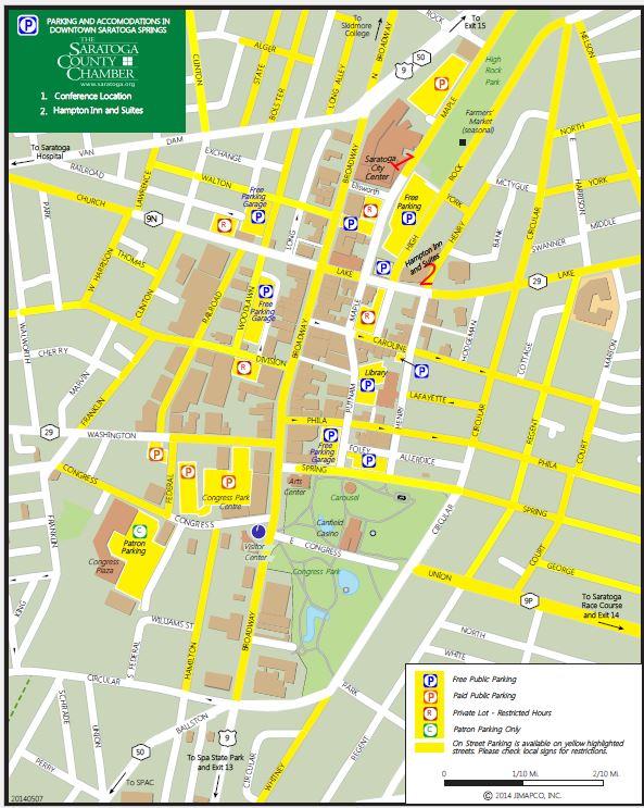 Saratoga Parking map