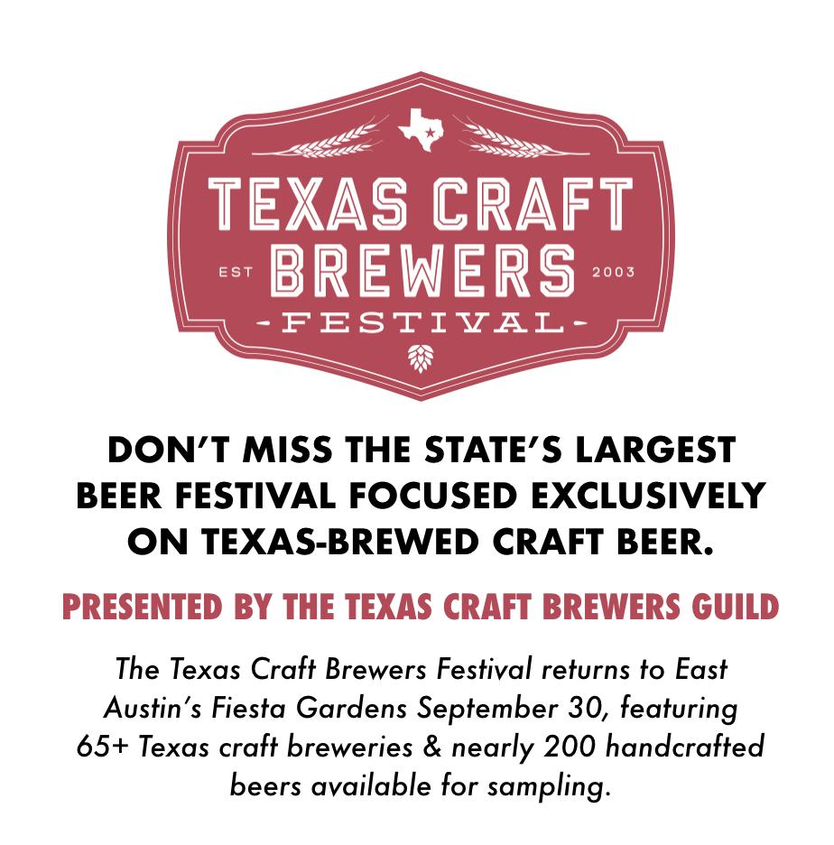 2017 texas craft brewers festival tickets sat sep 30 for Texas craft brewers festival