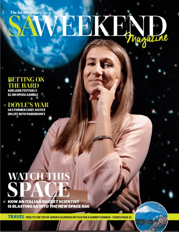 Flavia on the cover of SA Weekend