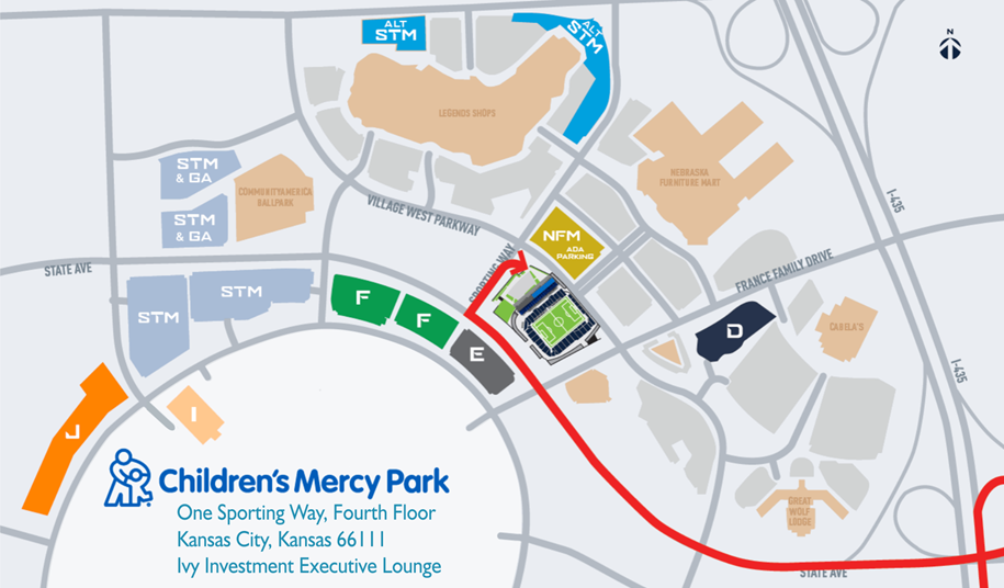 parking map at Sporting Park