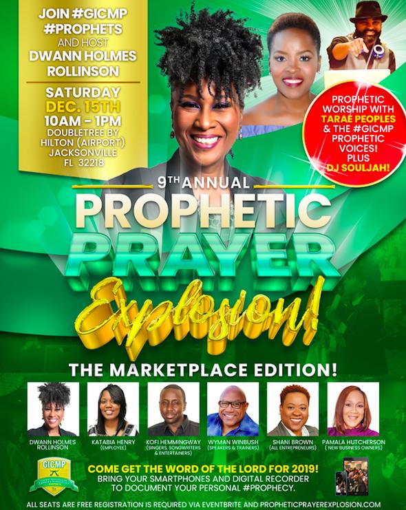 prophetic prayer explosion 2018 - jacksonville