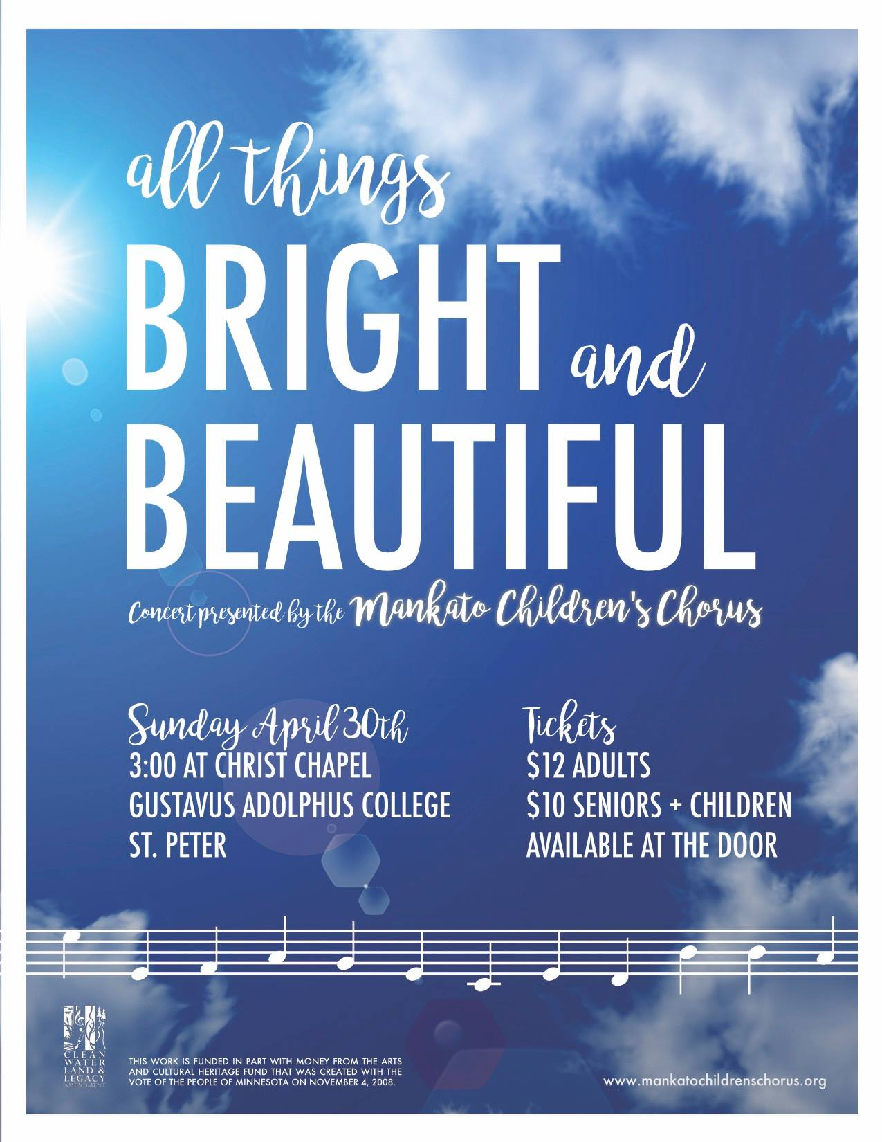 All Things Bright and Beautiful flyer