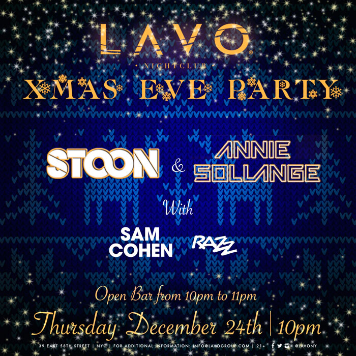 lavo nyc christmas eve party advance tickets with open bar