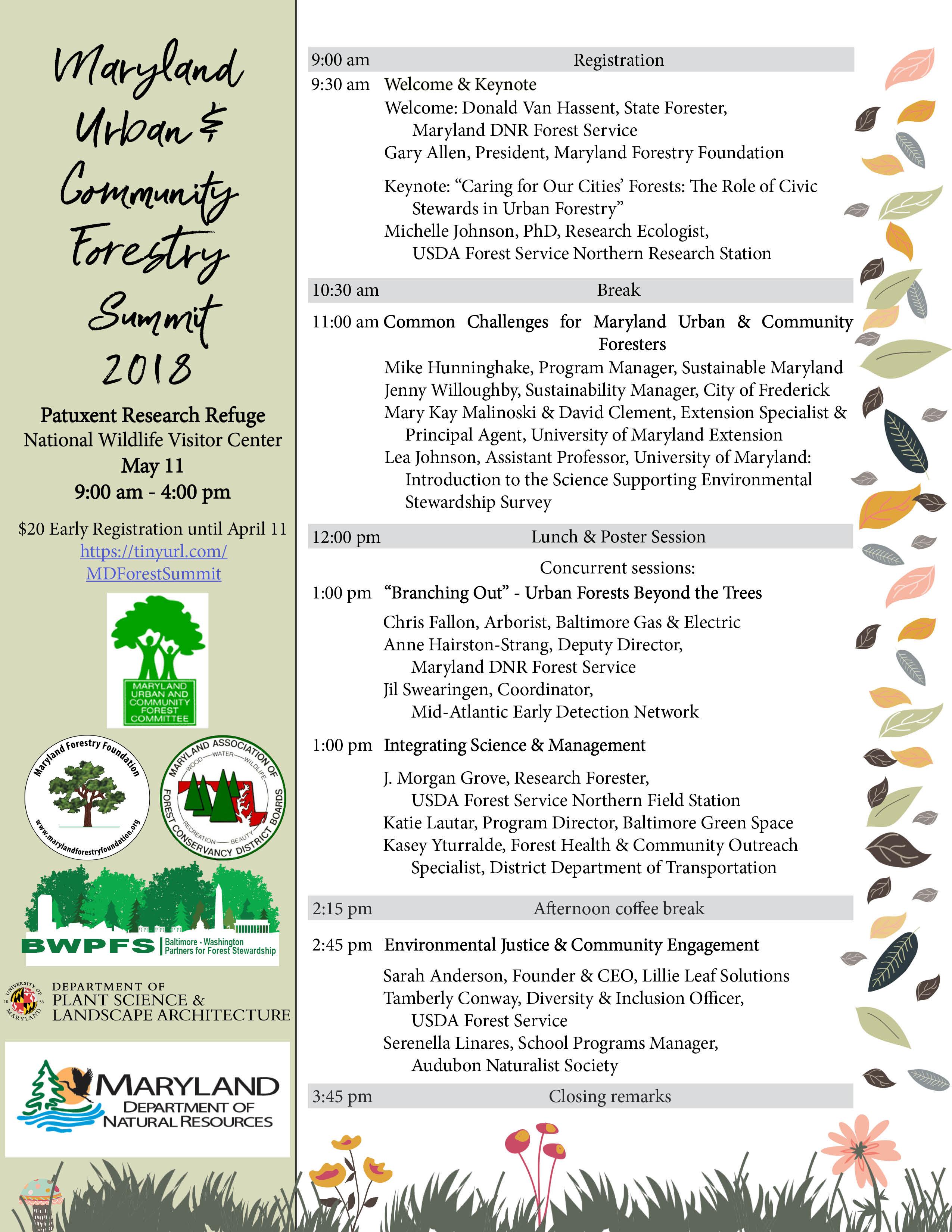 Urban & Community Forestry Summit Full Agenda