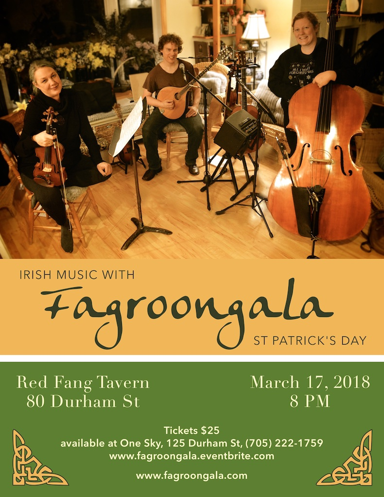 St Patrick's Day Poster with Fagroongala