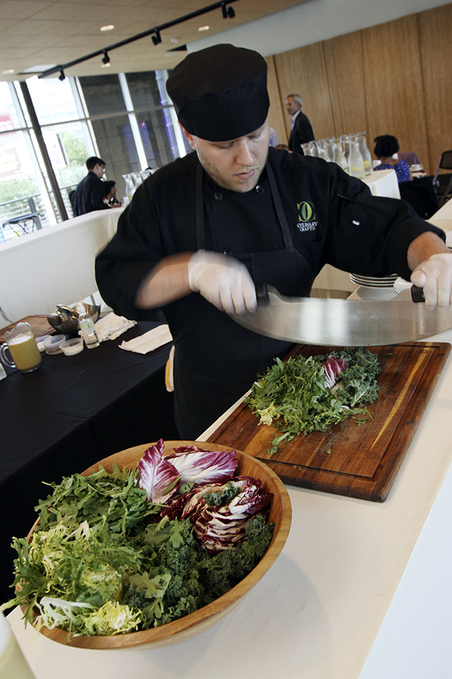 Culinary Crafts' Mezza Luna Salad Station