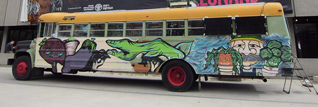 The Greenhouse Bus from The Green Urban Lunch Box