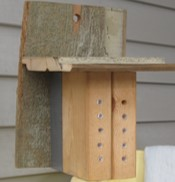 Wood Mason Bee House