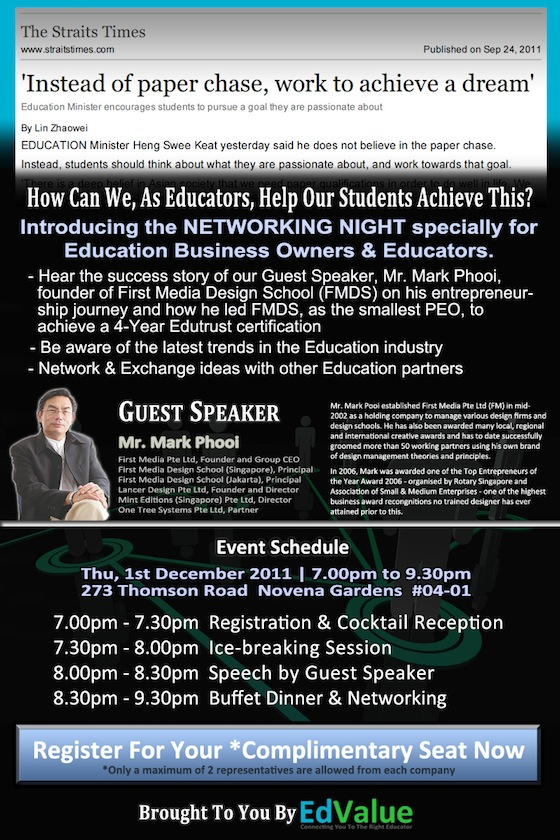 Education Business Networking Night 2011-12-01