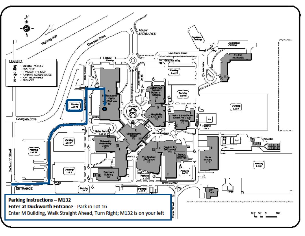M132 Parking Map