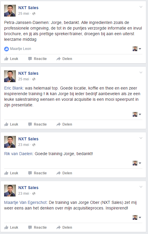 Recensies GRATIS training