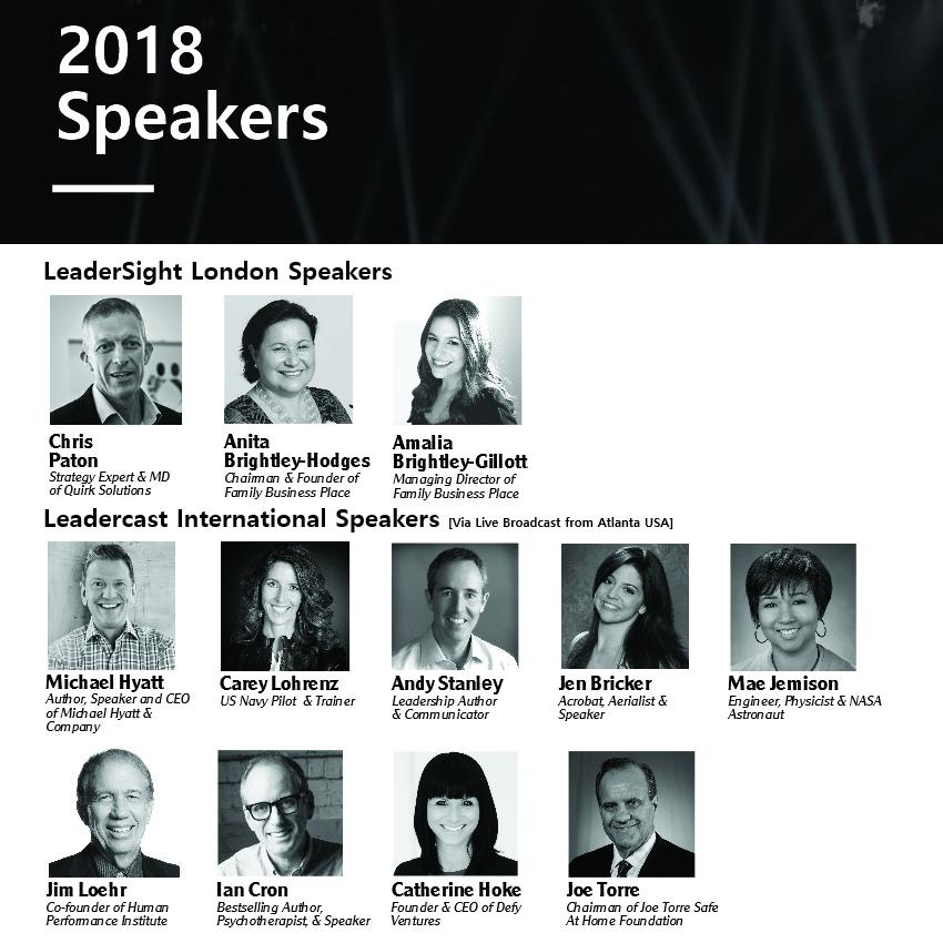 LeaderSight & Leadercast 2018 London Speakers