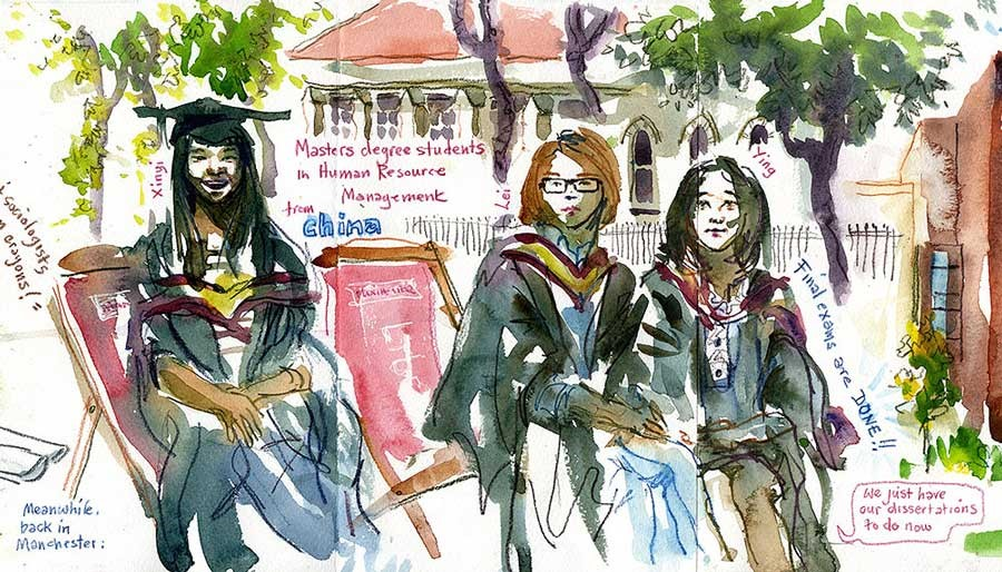 sketch 4 students