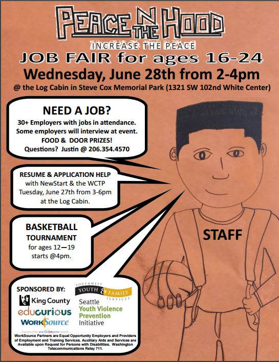 young adult job fair peace n the hood seattle wa