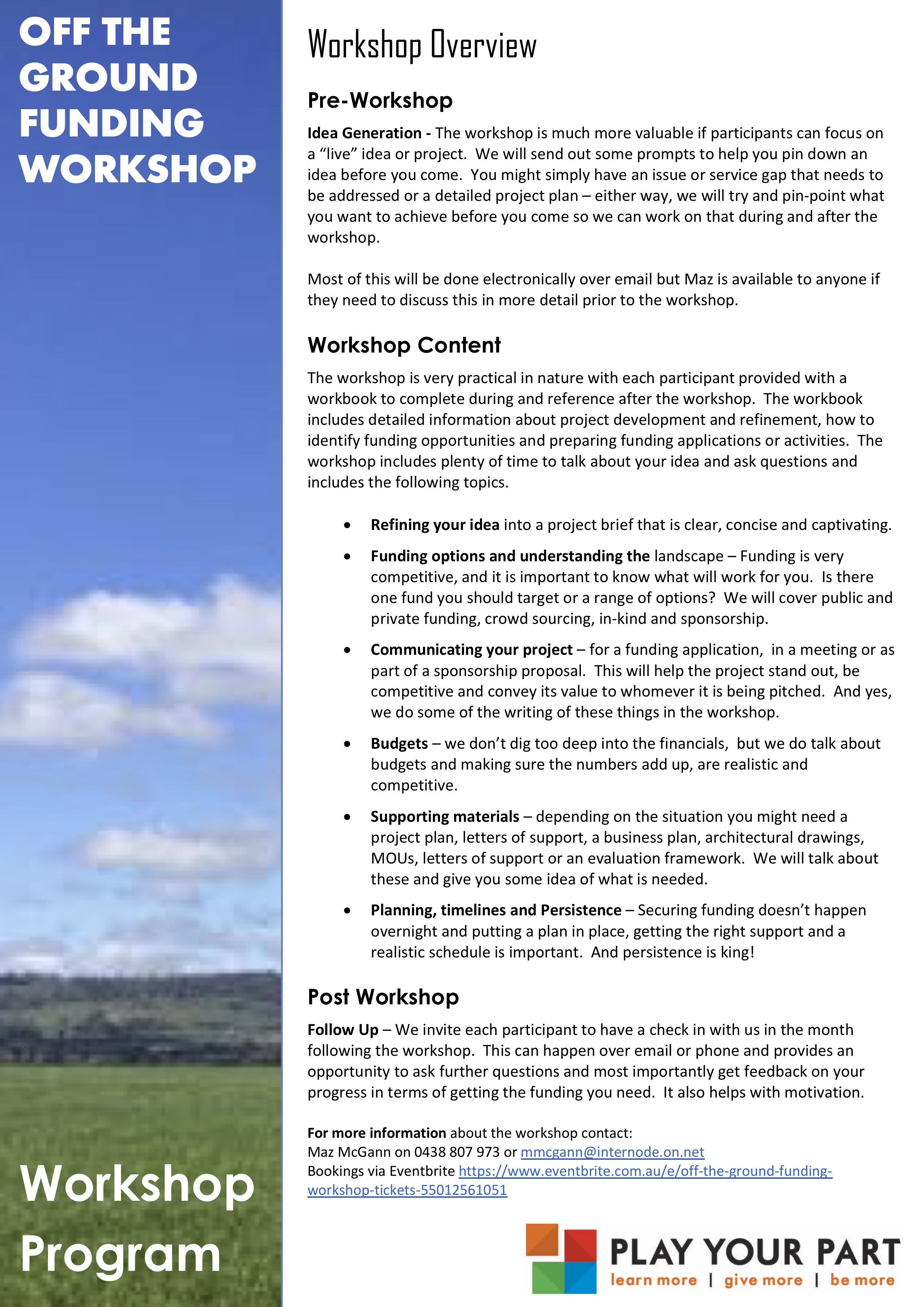Workshop Overview - Content