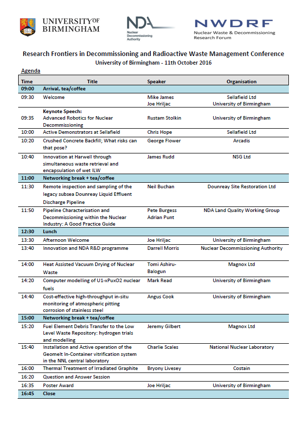 Research Frontiers 2016 Agenda
