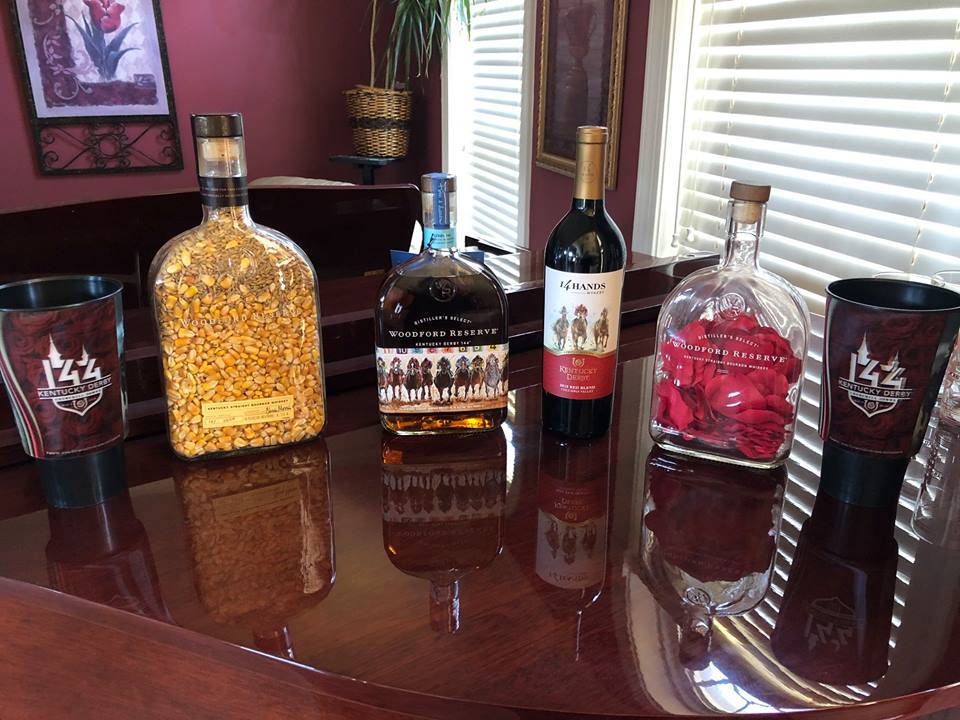 Woodford reserve and Kentucky Derby auction items