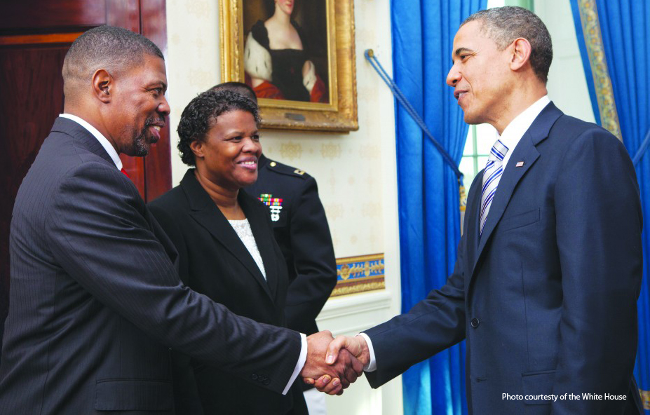 Dr. Tim Childs with President Obama