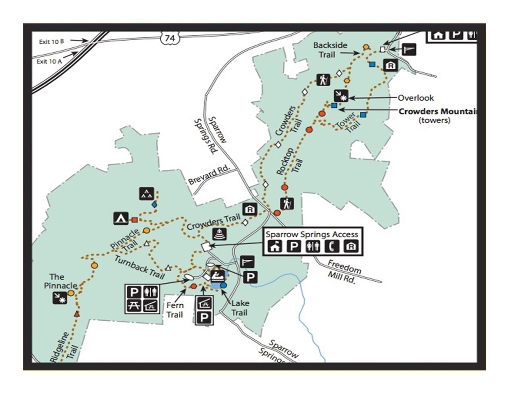MAP OF CROWDERS TRAILS