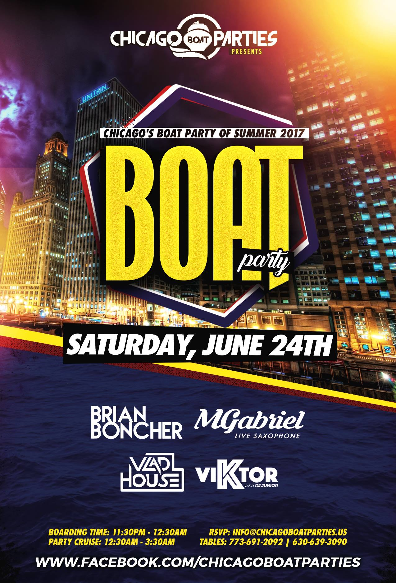 Chicago's Boat Party of Summer 2017 - Saturday, June 24th