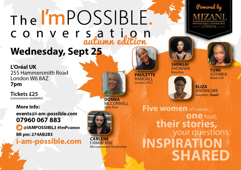 The I'mPOSSIBLE conversation, autumn edition, September 25, 2013