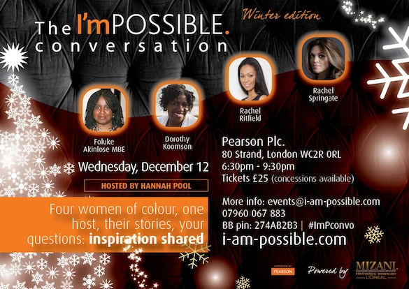 The I'mPOSSIBLE conversation, winter edition, December 12, 2012