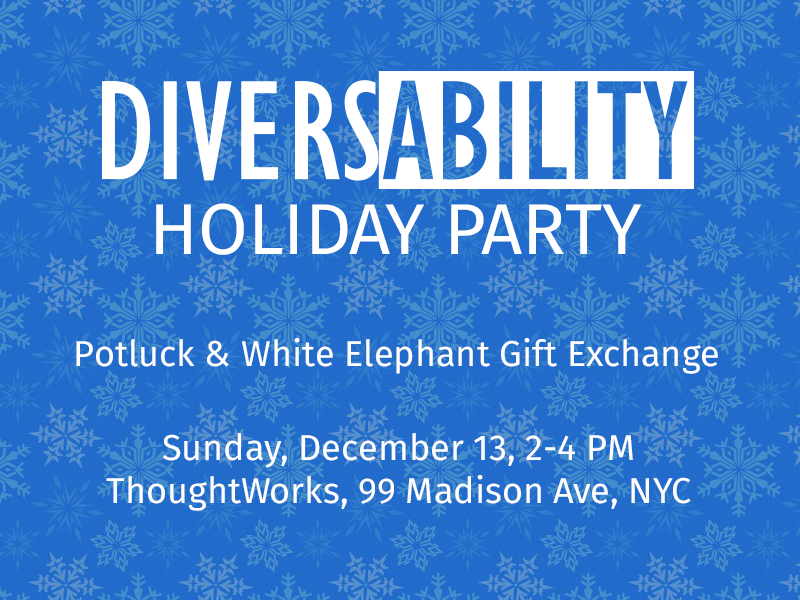 Diversability holiday party invitation