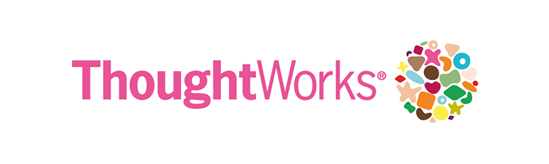 ThoughtWorks logo in pink font