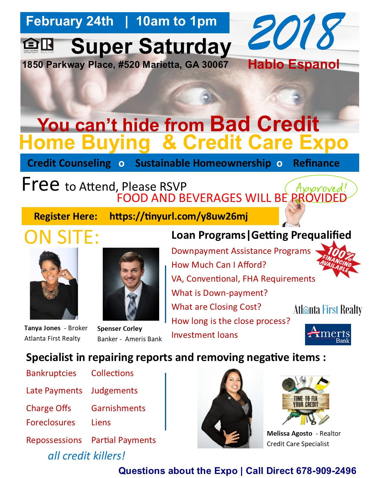 Home buying credit care expo tickets sat feb 24 2018 at 1000 mortage lender onsite to discuss options in qualifying for a home loan downpayment assistance refinancing options and much more malvernweather Images