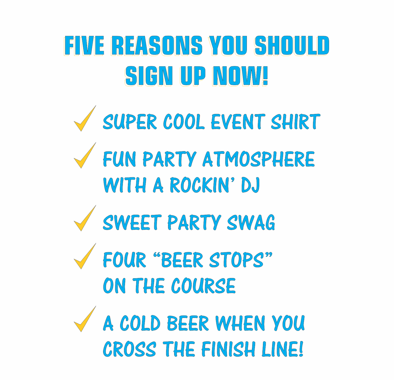 5 REASONS TO SIGN UP NOW!