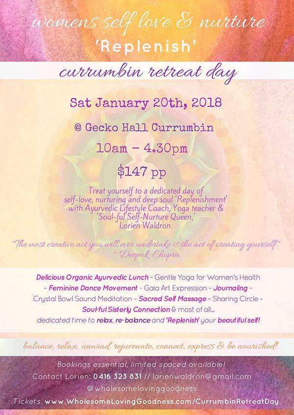 Currumbin Women's Retreat Day Poster