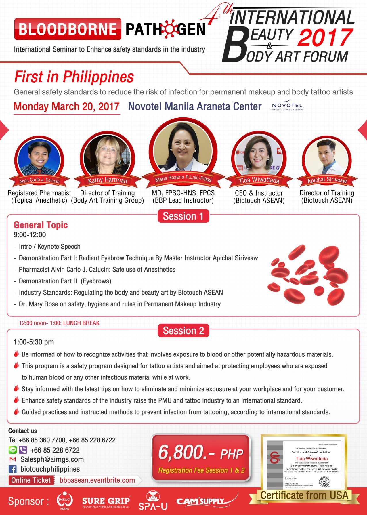 4th ibba forum 2017bloodborne pathogen class tickets mon mar 20 4th international beauty and body art forum 2017 manila philippines xflitez Gallery