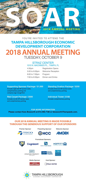 2018 Tampa EDC Annual Meeting Invite