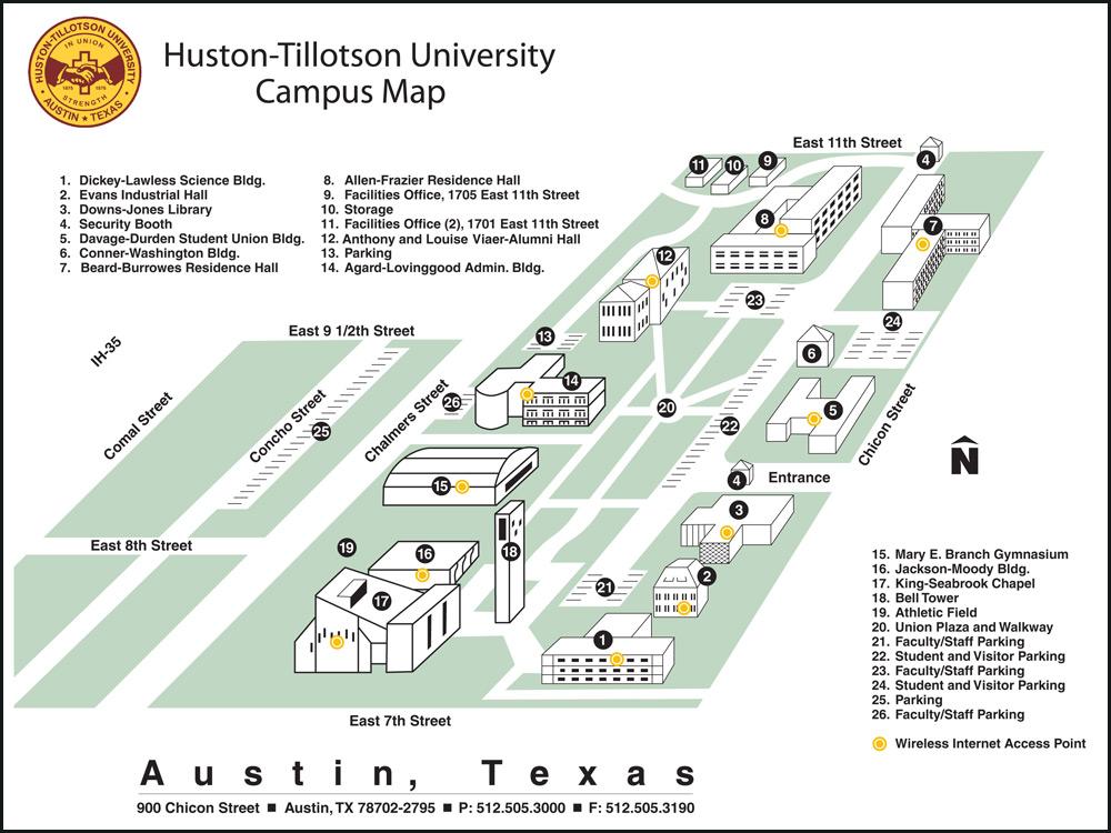 Huston-Tillotson Map