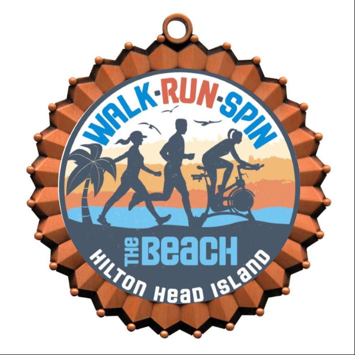 Walk Run Spin Medal