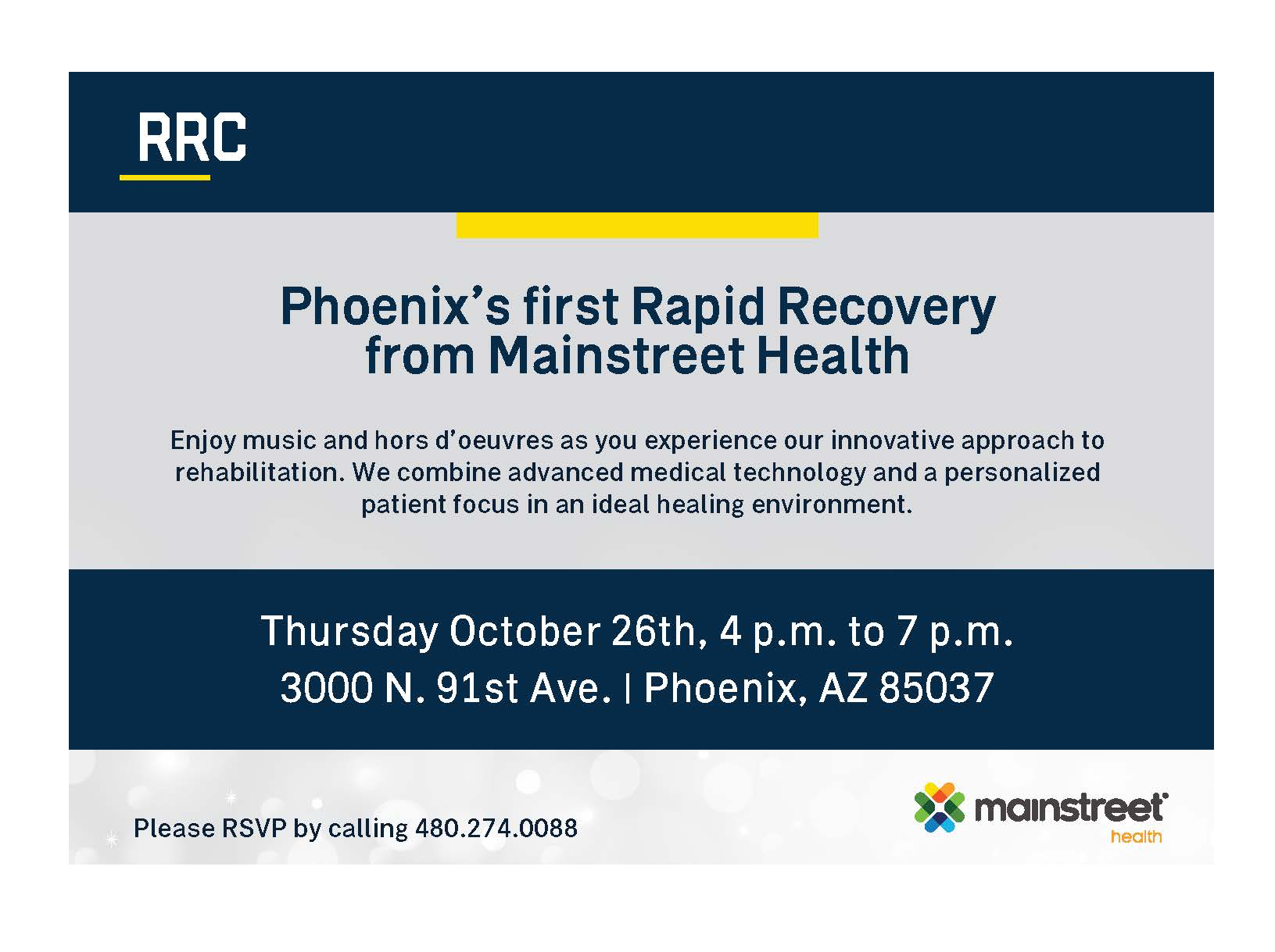 Phoenix's first Rapid Recovery from Mainstreet Health