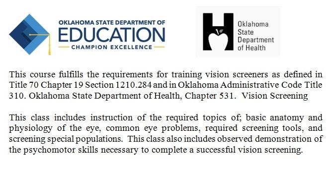 Vision Screening Training Description