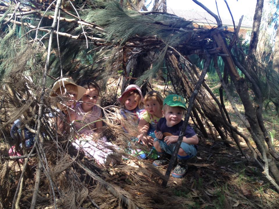 bush kids in shelter