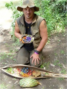 Jake Cassar with Bush Tucker