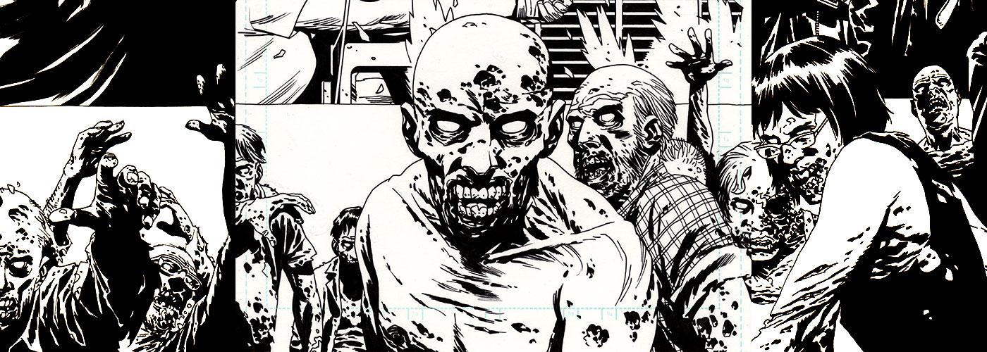 Walking Dead illustration by Charlie Adlard