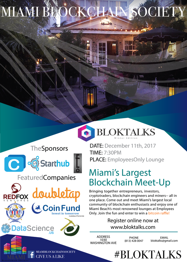 Bloktalks Miami Blockchain Society Winter Edition