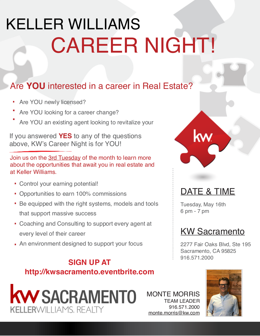 Real Estate Career : Real estate career night tickets tue may at